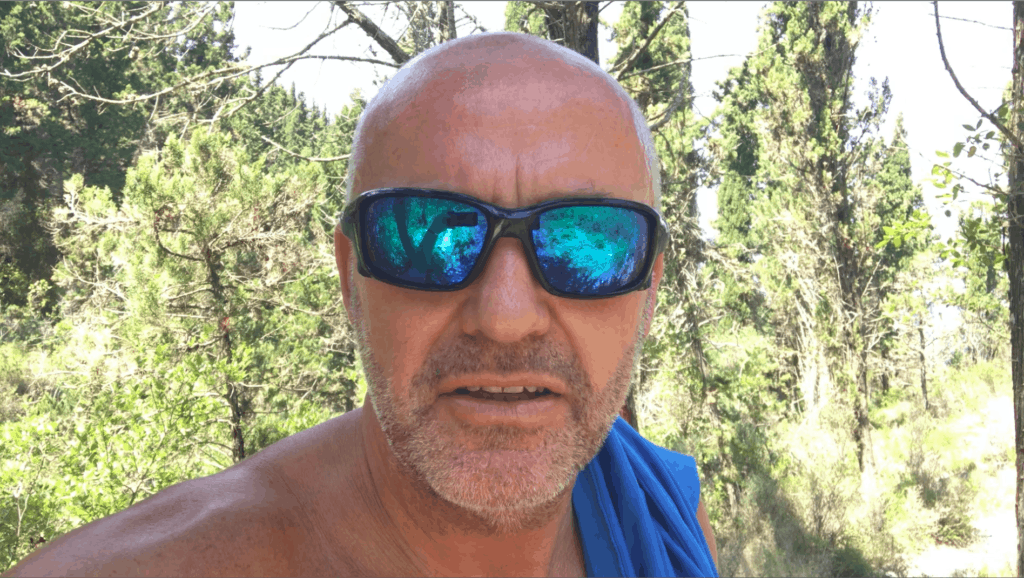Me feeling the effects of the heat on an afternoon explore in August on Paxos without any water!