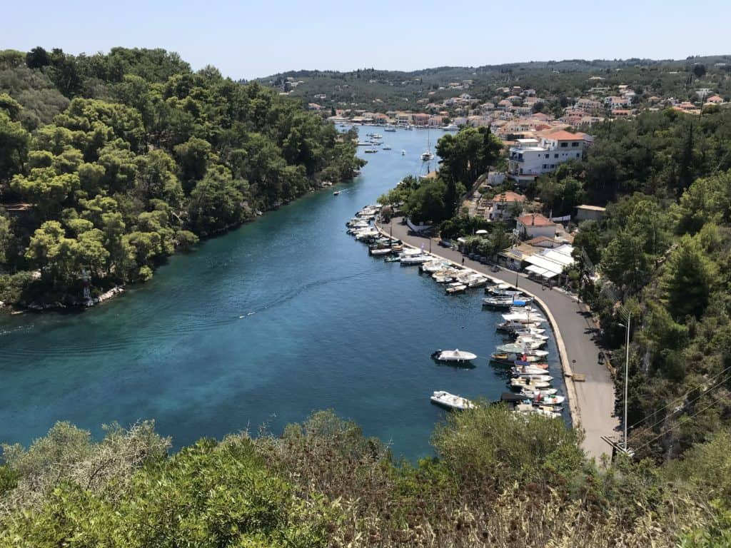 A great view of Gaios, the capital of Paxos