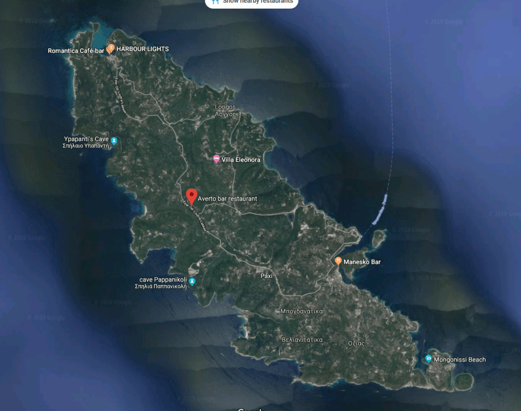 Where is the Averto Day and Night Yard on Paxos?