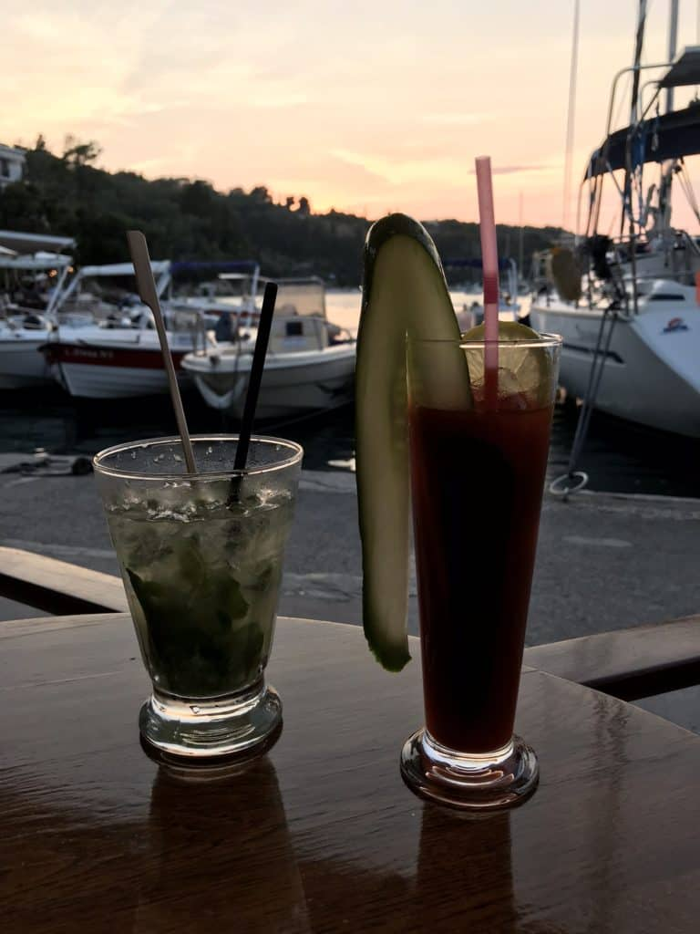Cocktails at RomanticaCafe Bar  in Lakka