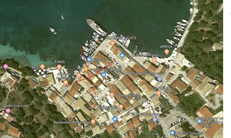 Where is Romantica Cafe Bar in Lakka?